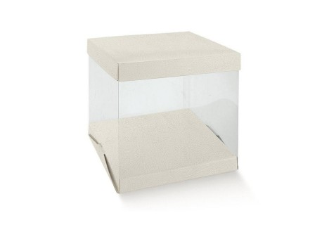CAIXA TRANSPARENTE C/ BASE 80X50X50mm
